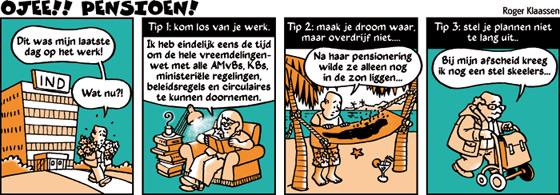 Magnifiek Roger Klaassen – illustratie, strip en cartoon   Pensioen #XO49
