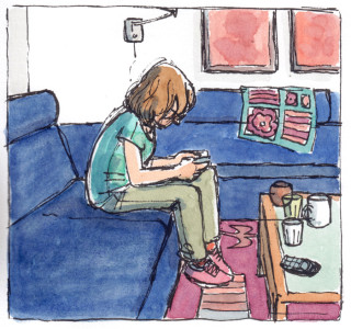 Girl at home