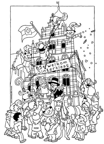 pietenhuis kleurplaat kidkleurplaat nl