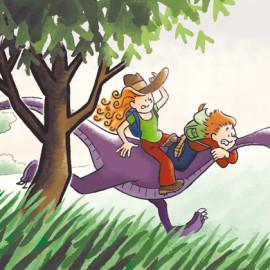 Ritje op een dino – Dino ride