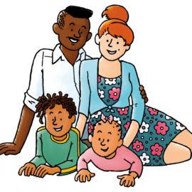 Happy family – Gelukkig gezin