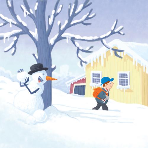 Nog een sneeuwman – Another snowman