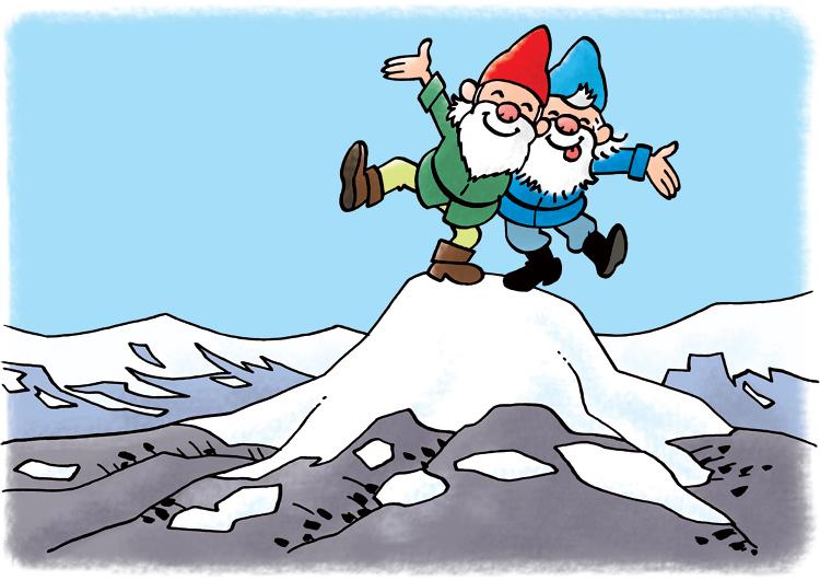Dwarfs on a mountain top – Dwergen op een bergtop